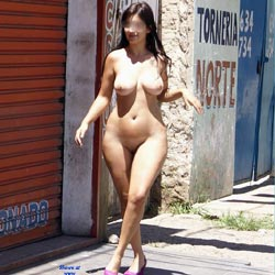 Street In Recife City - Big Tits, Brunette