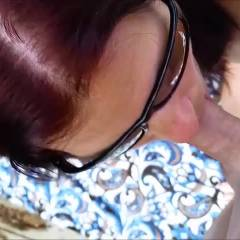Shades - Blowjob, Brunette, Outdoors