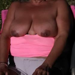 Tanning My Big Boobs - Big Tits