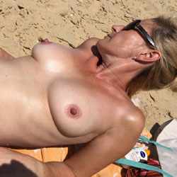 At The Beach - Beach, Big Tits