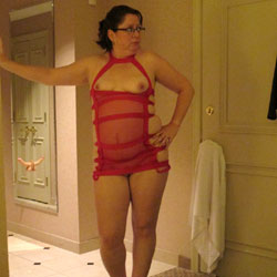 Playing In The Hotel - Big Tits, Brunette, High Heels Amateurs, Wife/Wives