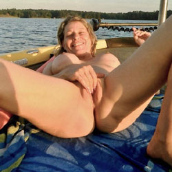 Orgasms For Passing Boaters - Big Tits, Masturbation, Outdoors, Shaved