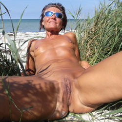 Hot On The Beach - Shaved, Beach, Wife/Wives