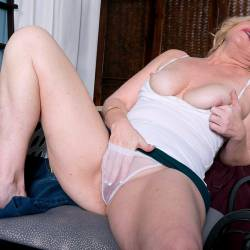 Large tits of my wife - My blonde wife