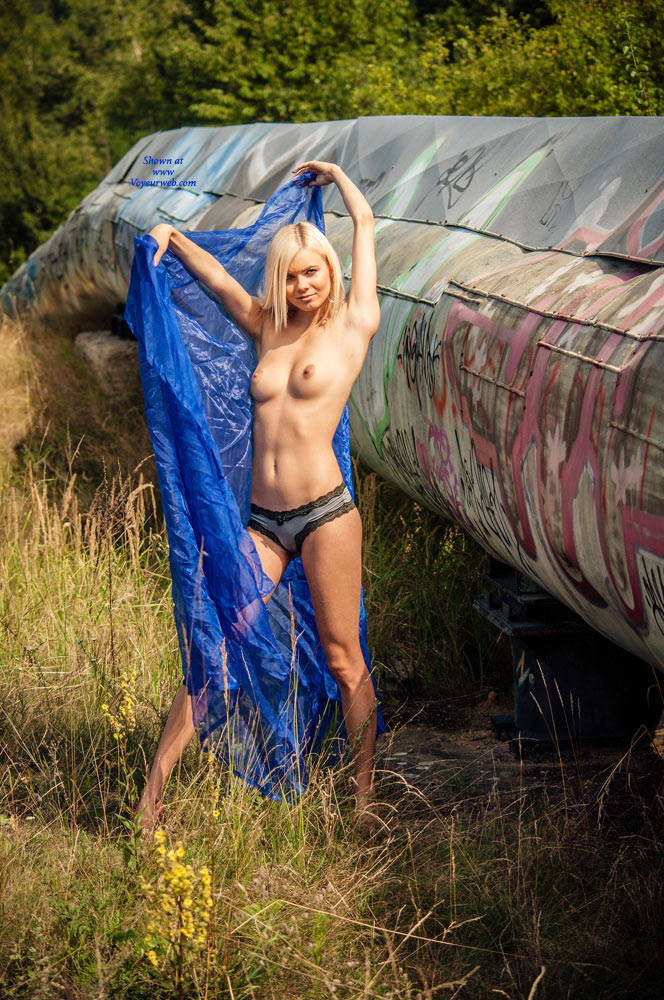 Pic #1 - Cate In The Blue - Big Tits, Blonde Hair , Hot And Sexy, Blonde Beauty, Model, Slender, Petite Chicks
