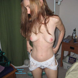 Topless Redhead In Her Bedroom - Firm Tits, Indoors, Perfect Tits, Redhead, Showing Tits, Topless, Hot Girl, Sexy Body, Sexy Boobs, Sexy Girl, Sexy Legs, Sexy Lingerie