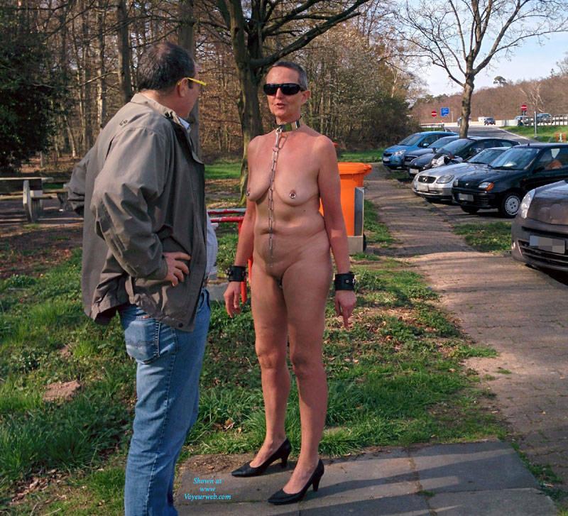 Pic #2 Nude At Parking - Big Tits, High Heels Amateurs, Public Exhibitionist, Public Place