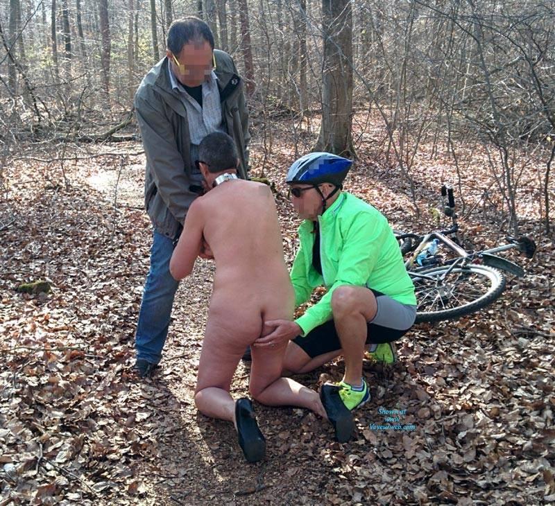 Pic #7 Nude At Parking - Big Tits, High Heels Amateurs, Public Exhibitionist, Public Place