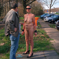 Nude At Parking - Big Tits, High Heels Amateurs, Public Exhibitionist, Public Place