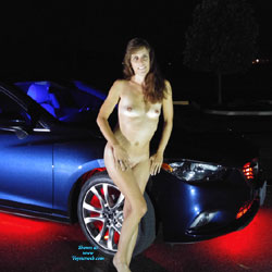 Wife Goes Naked For Neon - Brunette Hair, Wife/Wives