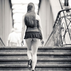 On Her Way In Berlin - Brunette, High Heels Amateurs, Public Exhibitionist, Public Place