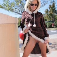 Can You See The Target? - Blonde, Public Exhibitionist, Public Place