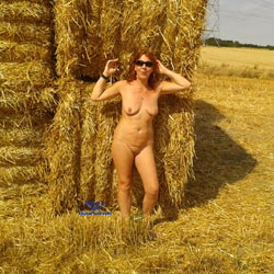 Naked Farm Girl Wearing Sunglasses - Big Tits, Exposed In Public, Milf, Naked Outdoors, Redhead, Shaved Pussy, Showing Tits, Sunglasses, Hairless Pussy, Sexy Body, Sexy Boobs, Sexy Figure, Sexy Legs, Sexy Woman