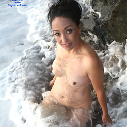 Naked At The Beach Water - Big Tits, Brunette Hair, Firm Tits, Hard Nipple, Perfect Tits, Showing Tits, Water, Wet, Beach Tits, Beach Voyeur, Hot Girl, Sexy Body, Sexy Face, Sexy Figure