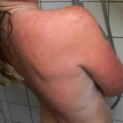 Dutch Milf Taking A Hot Shower - Big Tits, Tattoos