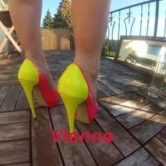 Vienna - Aqua And Oil - Redhead, Outdoors, High Heels Amateurs, Bikini Voyeur, Big Tits, Shaved