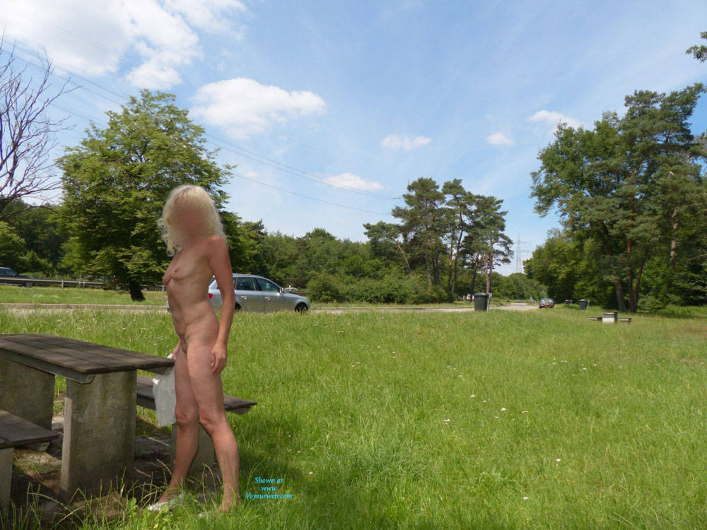 Pic #10 Nina In France - Blonde, Public Exhibitionist, Public Place