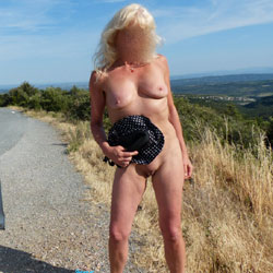 Nina In France - Blonde, Public Exhibitionist, Public Place