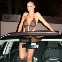 By Night In Car - Big Tits, See Through