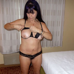 Hotel Fun Photo Shoot With The Wife - Big Tits, Brunette, Lingerie, Wife/Wives