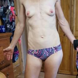 Very small tits of my wife - Jennifer