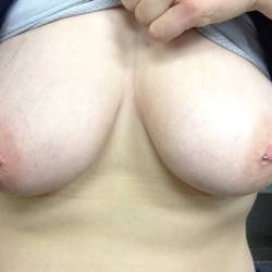 Large tits of a co-worker - Raych
