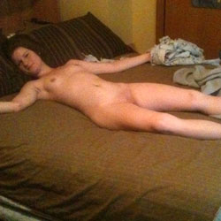 Naked And Playing On Bed