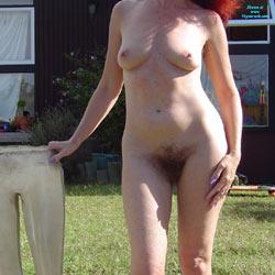 Sunbathing On The Lawn - Big Tits, Bush Or Hairy