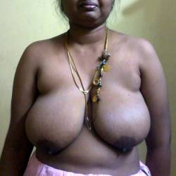 Extremely large tits of a co-worker - Anupma