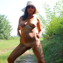 Naked Under The Sun - Big Tits, High Heels Amateurs, Outdoors