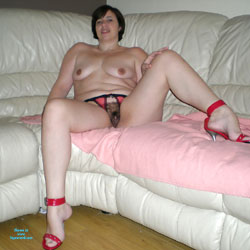 MILF Sharon Wants To Show Off To You All - Brunette, Lingerie, Bush Or Hairy