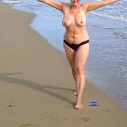 Walk Topless - Beach, Big Tits