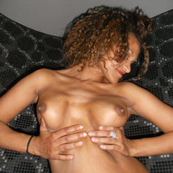 Curly Ebony's Firm Tits - Big Tits, Erect Nipples, Firm Tits, Full Nude, Hard Nipple, Huge Tits, Nipples, Perfect Tits, Red Lips, Short Hair, Showing Tits, Hot Girl, Sexy Boobs, Sexy Face, Ebony