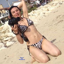 Brunette Legs - Beach, Bikini Voyeur, Brunette