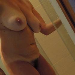 Very large tits of my wife - Leigh