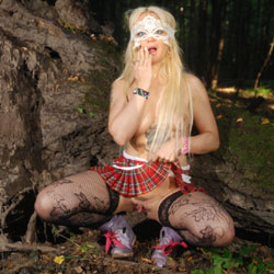 Lisa In The Forest - Big Tits, Blonde, Nature, Shaved, Tattoos