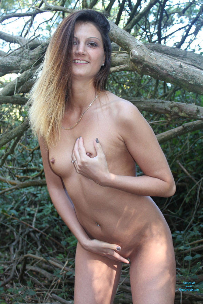 Stripping In The Woods - Nude In Public, Naked Girl , Nude, Naked, Slut, Horny, Young, Teen