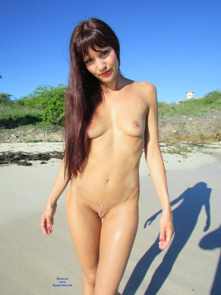 Shaved on beach