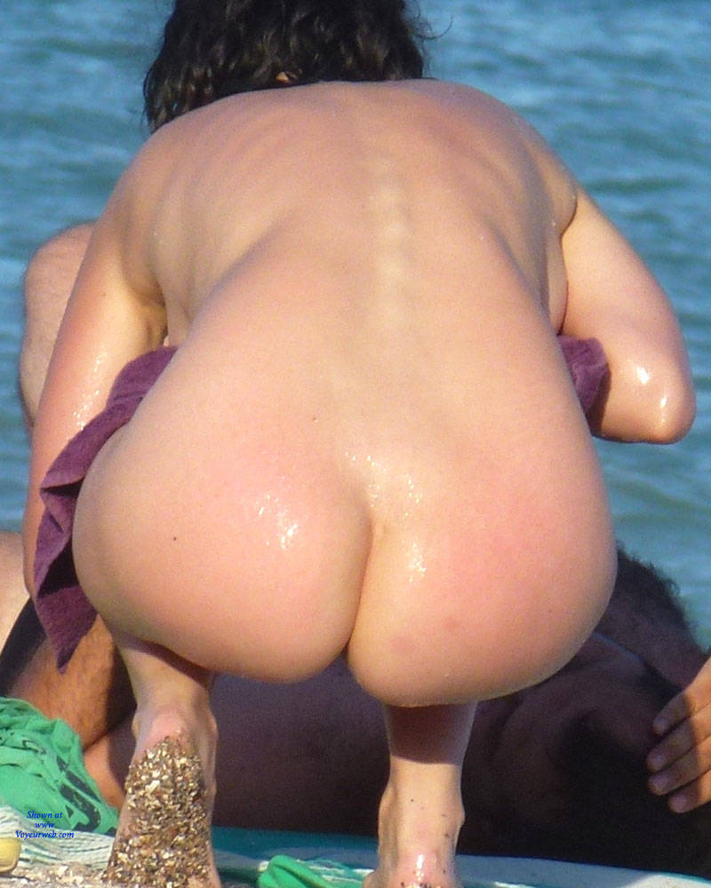 beach butt naked Nude