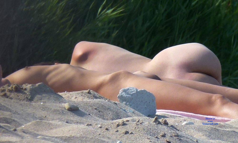 Sexy nude on beach