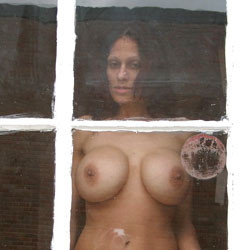 Neighbor At The Window - Big Tits, Brunette