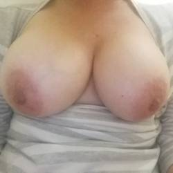 Very large tits of my wife - My MILF wife