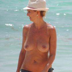 Busty Mature - Beach, Big Tits