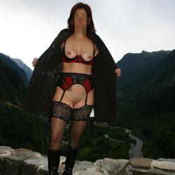 Castle Ruin - Big Tits, Lingerie, Redhead