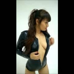 Latex Dance - Big Tits, Brunette