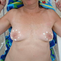 Small tits of my wife - Gina