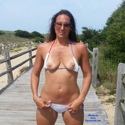 Beach Titties - Beach, Bikini Voyeur, Brunette