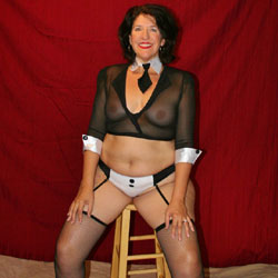 Bday Outfit - Brunette, Lingerie, See Through
