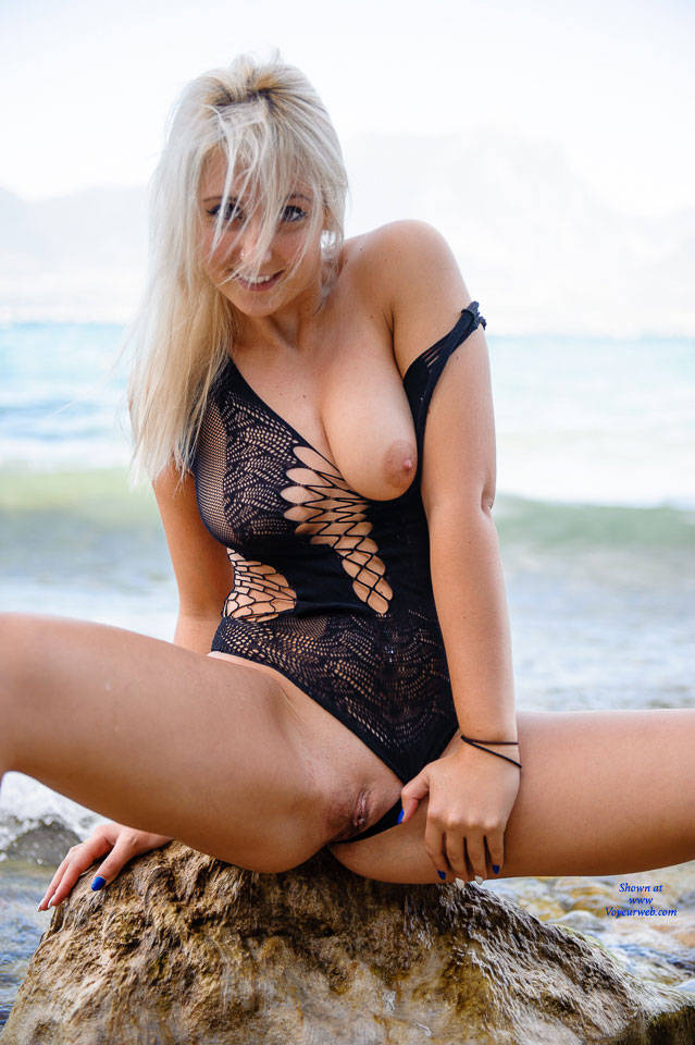 Carolina At The Lake Black Body Suit - Big Tits, Blonde Hair, See Through, Shaved, Beach Voyeur, Sexy Ass , Hot Blonde Babe, Nude Slut, Bikini Babes, Sexy Model