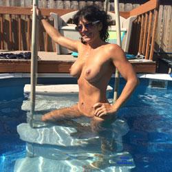 Pool Fun - Big Tits, Brunette